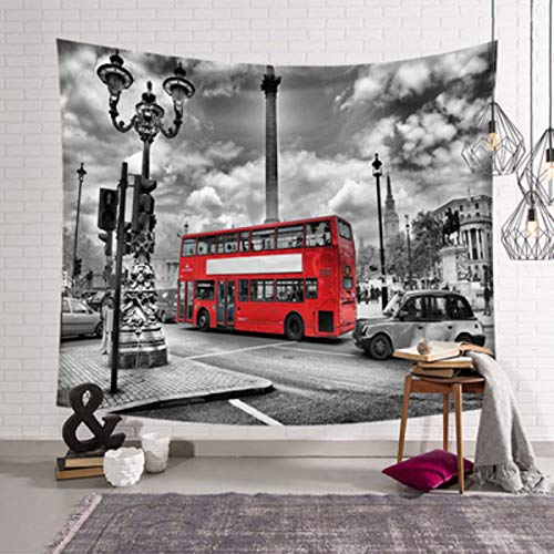 Sonwaohand Big Ben Tower Westminster Bridge met taxi zwart en bus Vista Dorm Muro Hanging Tapestry 95-73cm 1 : Il Nome Del