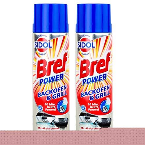 Sidol Bref Power Backofen & Grill Reiniger 500ml-10 min. Kraft-Formel(2er Pack)