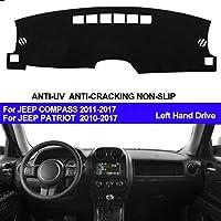 OZLXKNC 車のダッシュボードカバーダッシュマットダッシュマットパッド、ジープパトリオット2010-2014 2015 20162017コンパス2011-20142015 2016 2017