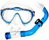 Mares Kinder Maske plus Schnorchel Set Sharky Tauchmaske, Blue/Clear, One size