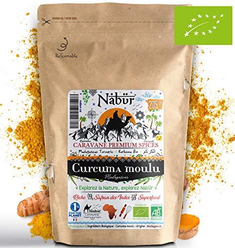Nabür - Poudre Curcuma Bio Madagascar 205 gr ⭐ Curcuma Bio Moulu, Poudre de curcuma Bio, Cuisine, Superfood, Smoothie