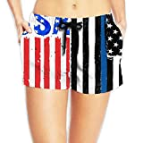 Jiger American-flag-usa-vector-17959289 Surfing Pocket Elastic Waist Women's Beach Pants Shorts Beach Shorts Swim TrunksXL