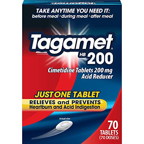 Tagamet HB 200 mg Cimetidine Acid Reducer and Heartburn Relief 70 Count