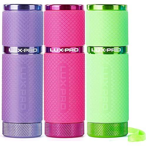LUX PRO LP395 Gels Glow-in-The-Dark 9 LED Flashlight (Purple, Pink, Green)