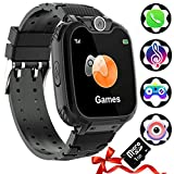 Montre Intelligente Enfants [Carte SD 1 Go Incluse] - Téléphone Kids Smart Watch avec Conversation Bidirectionnelle SOS MP3 7 Jeu Appareil Calculateur Photo Lampe de Poche Réveil Caméra (Noir)