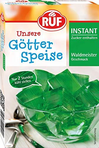 RUF Instant Götterspeise Waldmeister Wackelpudding mit nur 2 Stunden Kühlzeit (1 x 100 g)