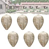 Wasp Nest Decoy 4 Pack - Hanging Fake Wasp Nest Effective Eco Friendly Paper Wasp Nest Decoys Natural and Safe Non-Toxic Hanging Wasp Decoy Waterproof Material Brown-6pack