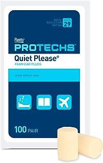 Flents Protechs Ear Plugs, 100 Pair, Ear Plugs for Sleeping, Snoring, Loud Noise, NRR 29