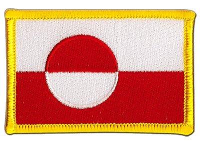 Flaggenfritze Flaggen Aufnäher Grönland Fahne Patch + gratis Aufkleber