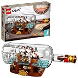 LEGO Ideas Ship in a Bottle 92177 Expert Building Kit, Snap Together Model Ship, Collectible Display Set and Toy for Adults (953 Pieces)
