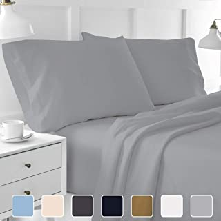 4-Piece Hotel Luxury Bed Sheets - Premium Collection 1800 Series Ultra-Soft Brushed Microfiber Sheet Set - Hypoallergenic - Wrinkle Resistant - Deep Pocket fits upto 16
