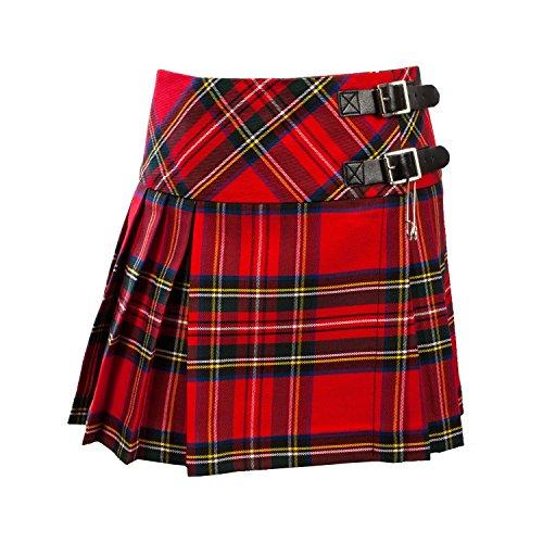 Baby Girls Luxury Scottish Billie Kilt/Mini Skirt Available in 3 Tartans New (11-12 Years, Royal Stewart)