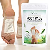 Prescia Foot Pads (30) Sleep Aid, Stress and Pain Relief, Cleansing, Organic Herbal Bamboo Vinegar Foot Care, Quality Adhesive Sheet Patch