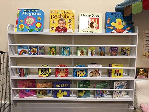 Top Home Solutions® Kinderen Kinderen Houten Wandgemonteerde Boekenkast Rack Opslag Boek Plank Tidy Slaapkamer Spelen Kwekerij Rek