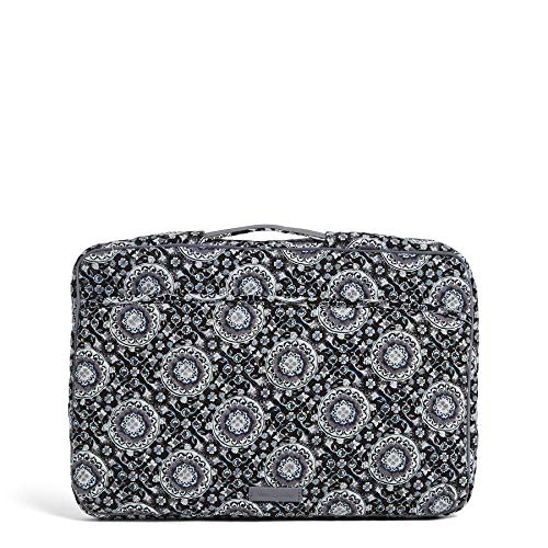 Vera Bradley Women's Signature Cotton Laptop Organizer Laptop Organizer, Charcoal Medallion, One Size