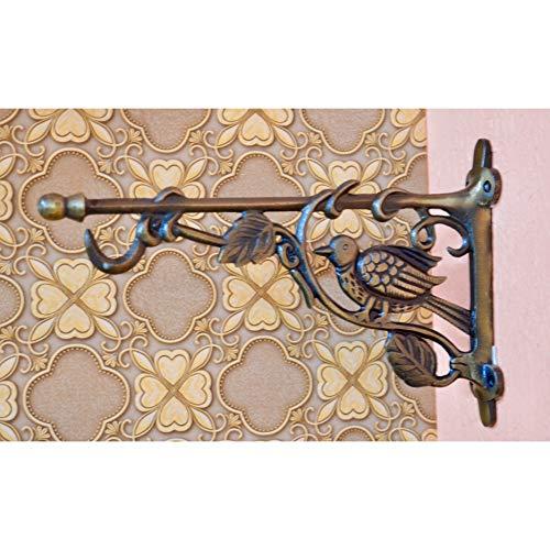 Aakrati - Soporte de Pared Lateral para Toallas o Timbre de Puerta, diseño de pájaro y árbol, 30,5 cm