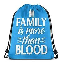 家族はビーチスポーツジム旅行ヨガキャンプのための血のバックパック巾着袋以上です36x 43cm