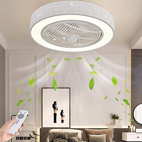 Ventilador De Techo Lámpara De Techo Moderna LED Ventilador De Techo Control Remoto De Correa Regulable Decoración De Interiores Plafón De Techo Sala De Estar Dormitorio Oficina Estudio Lluminación