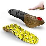 Supinserts Semelles pour enfants en mousse à mémoire de forme avec soutien de la voûte plantaire et amortissement pour le confort, la course, la marche et les pieds plats
