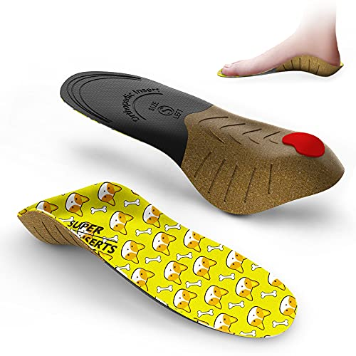 Plantillas Ortopédicas Para Niños,Supinserts Niños Plantillas Zapatos de Gel Amortiguadoras,Insertos con soporte de arco amortiguación de choque para pies planos,para,correr, caminar,XS