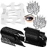 16 Pieces Eyeliner Stencil Set, Include 3 Pieces Eyeliner Smoky Stencil Pad Makeup Eyeliner Template, 3 Eye Makeup Stencil Eye Shadow Template, 10 Pairs Eyeliner Cat Shape Template for Eye Makeup Tool