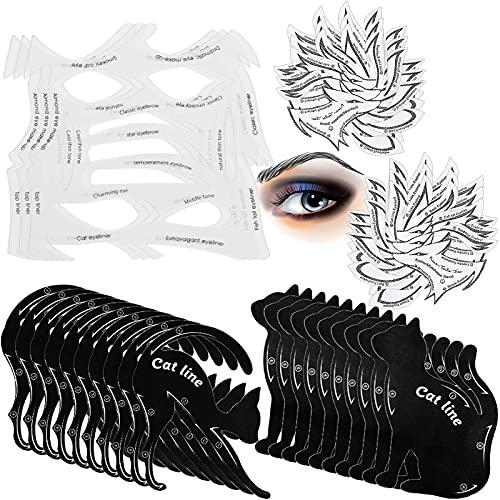 16 Pieces Eyeliner Stencil Set, Include 3 Pieces Eyeliner Smoky...