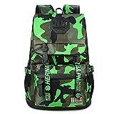 Bebone Schulrucksack Schulranzen Schultasche Sports Rucksack Freizeitrucksack Daypacks Backpack (Grün)