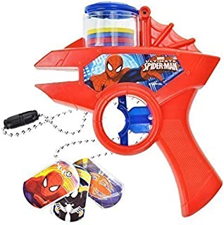 Marvel Spider-Man Toy Set Foam Disc Shooter and Dog Tags