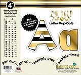 Barker Creek 4' Poster Letters & Bulletin Board Letter Pop-Outs, 24k Gold (LL-1723)