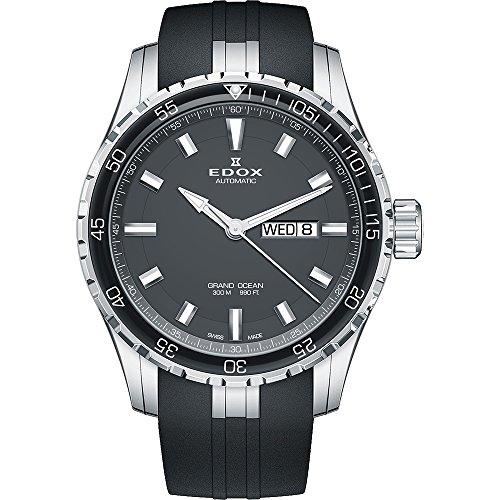 EDOX–Orologio da polso uomo Grand Ocean Data Giorno della settimana...