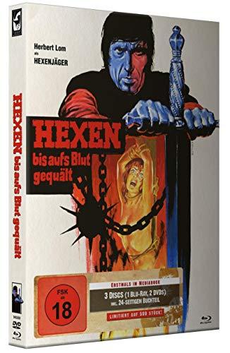 Hexen bis aufs Blut gequält - Limited 3 Disc Uncut Mediabook (500 Stück) DVD - Blu-ray (Mark of the Devil)