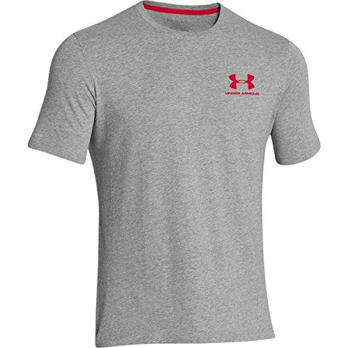 Under Armour Herren Fitness Cc Left Chest Lockup Kurzarm T-Shirt, Grau True Gray Heather/Red, LG