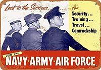 海軍陸軍空軍に参加する 金属板ブリキ看板警告サイン注意サイン表示パネル情報サイン金属安全サイン