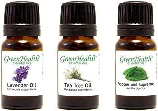 Top 3 100% Pure Essential Oil Basic Set 10ml (Lavender, Tea Tree, Peppermint Supreme) 10ml Each
