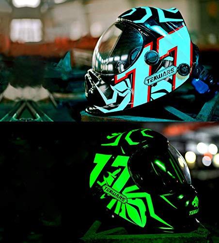 Tekware Hemispherica Large Viewing Auto Darkening Welding Helmet, Solar Powered True Color Welding Hood, 4 Arc Sensor Variable Shade 4/5/-9/9-13 Welders Mask for TIG MIG ARC Grinding Plasma