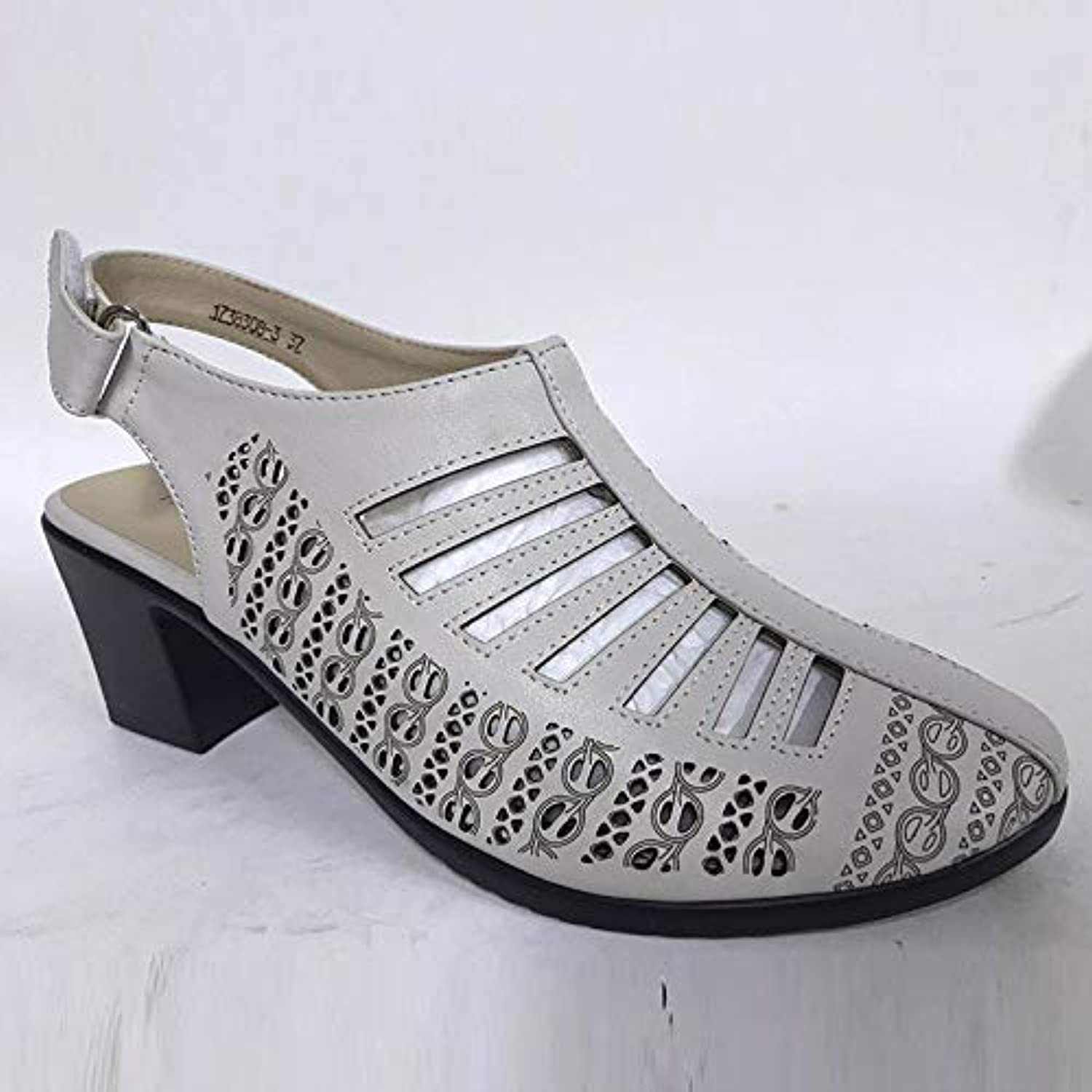 New Women Gladiator Sandals Summer shoes Black color Comfortable Heels Women shoes Hollow out shoes,B,7