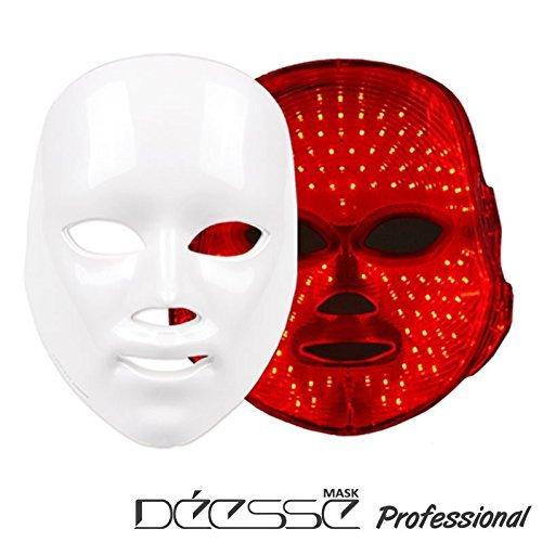 DEESSE Masque facial LED Professionnel, Masque esthétique, Seulement LED couleur rouge autosoins SBT-MASK-STD