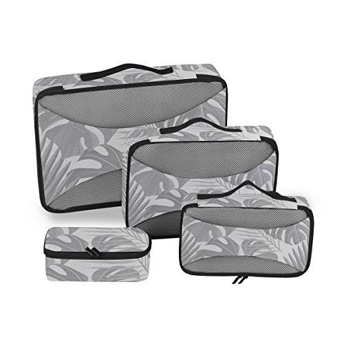 Leaves 4pcs Toiletry Bag for Men and Women Travel Organizer for Makeup and Toiletries Case for Cosmetics and Toilet Accessories