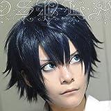 Ao no Blue Exorcist Okumura Rin Blue Short Heat Resistant Hair Perucas Cosplay Costume Wig + Wig Cap