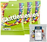 Sour Skittles Candy, 5.7 Ounce (Pack of 3) with By The Cup Clown Pops