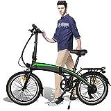 Bicicleta Eléctrica Plegable de 20 Pulgadas, 350W 36V 10AH/,batería de 7,5 Ah, 20 Pulgadas, 3 Modos de conducción,Resistencia 50-55 kilómetros, Bike Black, Adultos Unisex,Bici Electricas Adulto,