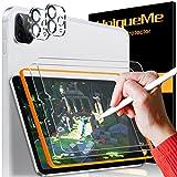 """UniqueMe Paper-Like protector pantalla para iPad Pro 2020 11"""" película protectora de papel similar, Vidrio templado, protección de la lente de la cámara para dibujar/tomar notas [admite lápiz]"""