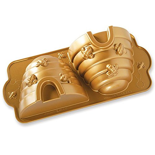 Nordic Ware Beehive Cake Pan, One, Gold