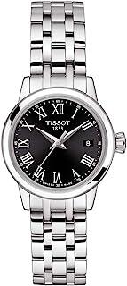 ساعة تيسوت انالوج كلاسيك بسوار فضي للنساء - T129.210.11.053.00