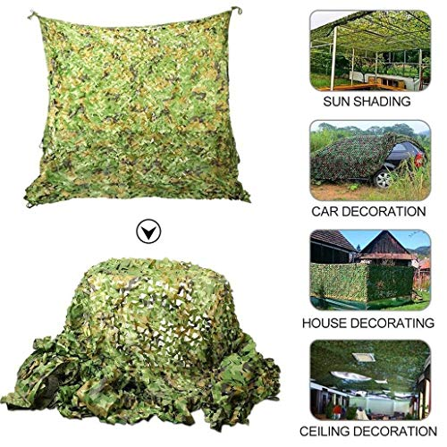 Anquanwang Large Netting Camo Hunting Camouflage Net, Camouflage net Oxford cloth Garden shade net can be customized size outdoor canvas awning decorative photography camouflage hunting 5x8m 9m 10m