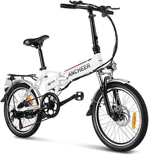 """ANCHEER 20\"""" klappbares E-Bike, Faltbares Pedelec, Elektrofahrrad für Damen und Herren mit 288Wh Lithium Akku, 250W Motor, Shimano 7 Gang-Schaltung"""