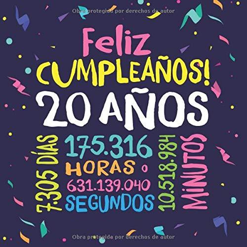 Feliz Cumpleaños - 20 Años: Un libro de visitas para fiesta de 20 cumpleaños – Decoración y regalos originales para hombres y mujeres - 20 años - ... para felicitaciones y fotos de los invitados