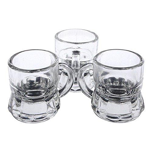 Schramm® 12 Stück Schnapsgläser 3cl Stamper Schnaps Glas Shot Gläser Bar Schnapsglas Stamper Kurze 3cl Stamperle 12er Pack