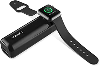 ROMOSS iRoll 3250mAh Portable Charger for All Apple Watch Series, Dual Port 2A Output External Power Bank for iPhone X/8 P...