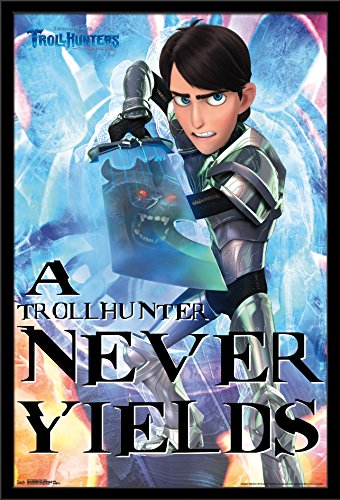 "Trends International Trollhunters-Never Yields Premium Wall Poster, 22.375"" x 34"""